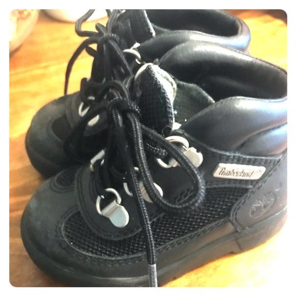 baby boy black timberland boots
